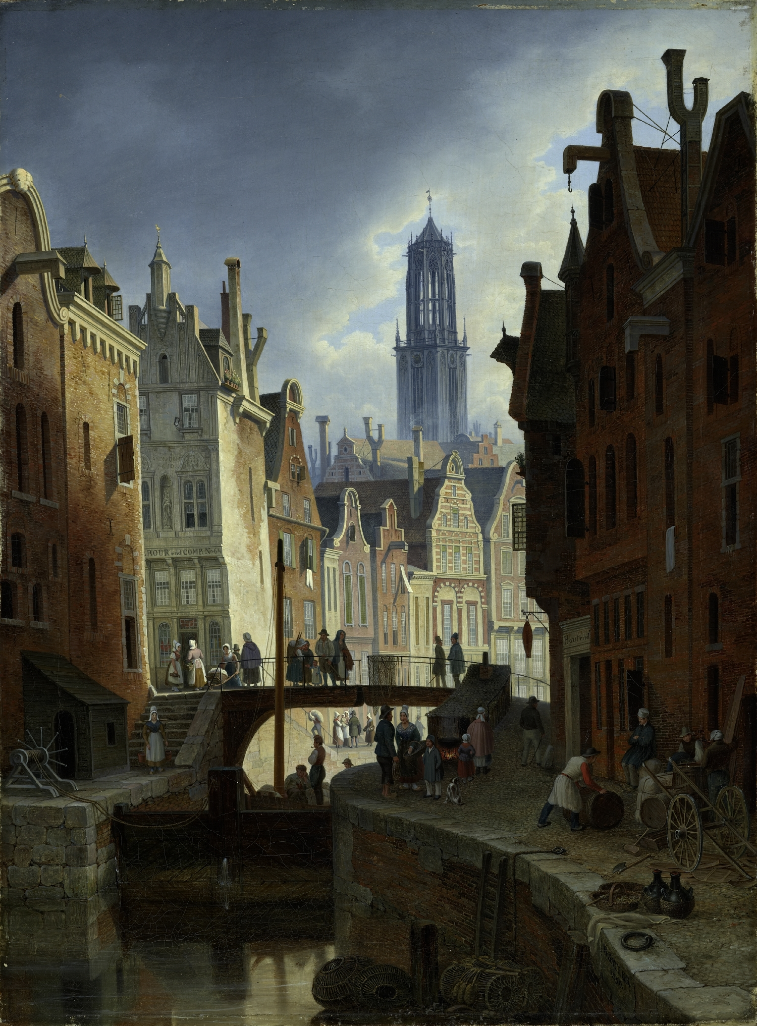 Gracht in Utrecht, Hubert Sattler, 1839, inv. no. 58-30