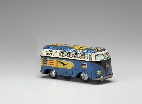 VW bus, made by: Masudaya, 1950–60, metal, plastic, inv. no. S 2868-2006