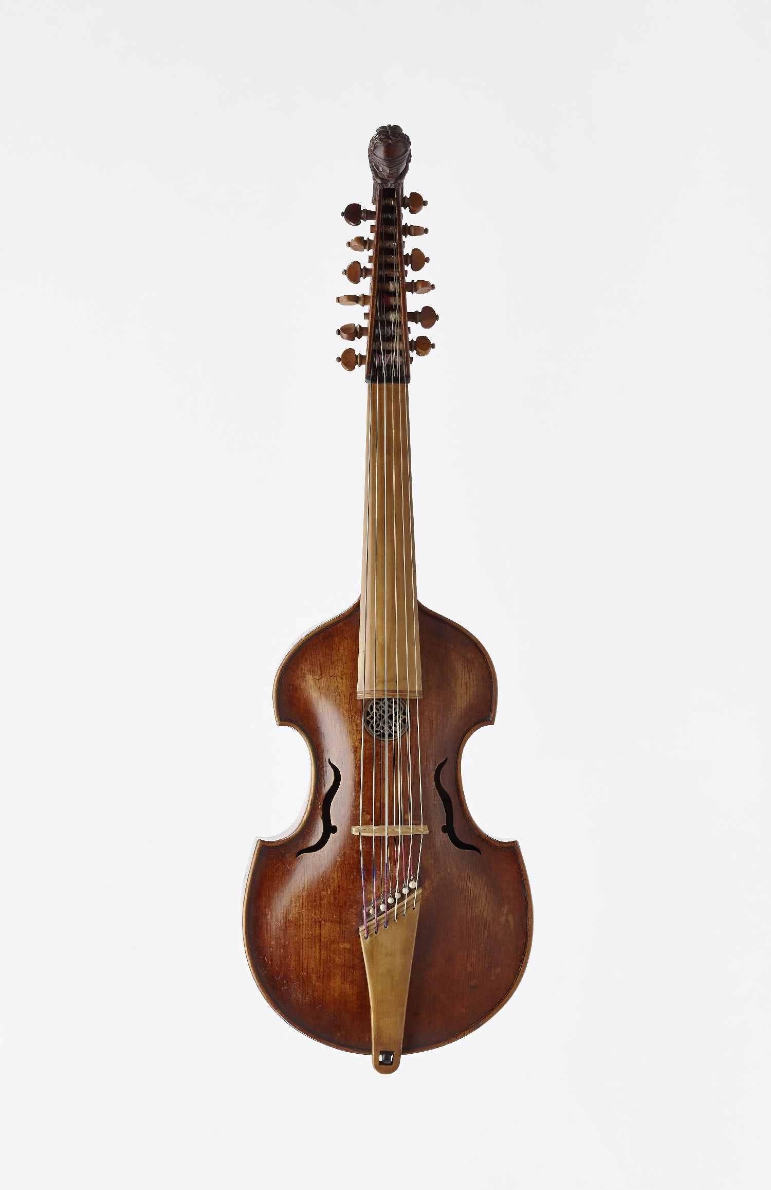 Viola d'amore, Johannes Schorn, Salzburg, 1701, wood (maple, fir), metal, inv. no. MI 1016