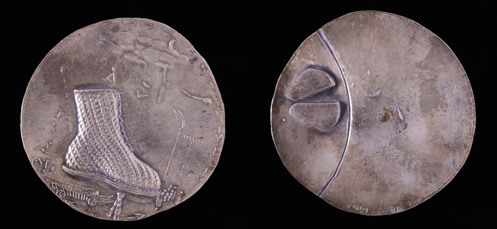 Medal 6 from the Pinzgau cycle, Helmut Zobl, silver, inv. no. M 870